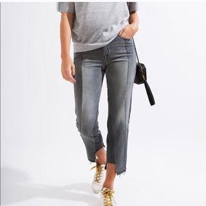 New Frame Denim Nouveau Le Mix Cropped Jeans